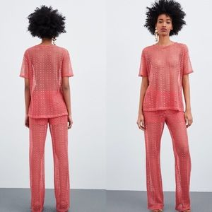 Zara Openwork shirt